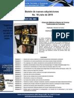 Boletin Nuevas Adquisiciones Julio 2015