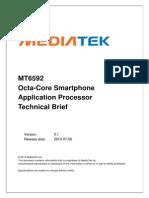 MT6592 Octa-Core Smartphone Application Processor Technical Brief