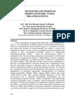 (Garcia, Et Al, 2014) Elementos de Los Modelos Determinantes Del Clima Organizacional