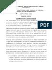 Communique of the 9th SCCA Nairobi 2015 Conference