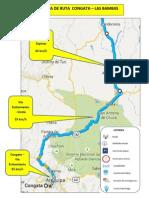 Mapa de Ruta Arequipa - Las Bambas