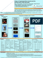 Comparative Biology of Crytosporidium Hominis Poster