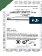 certificación Organica