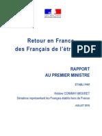 Rapport sur le retour en France des Français de l'étranger