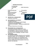 Informe Psicologico Cachimbo II 2015
