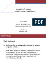 Impacts of Agriculture on Nutrition