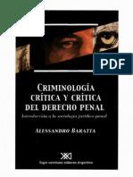 Criminologia Critica y Critica Al Derech - Alessandro Baratta