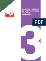 Control Practico de Materias Primas y Partes Terminadas