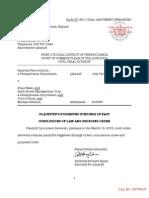 Sixth Street Management - Plaintiff Findings