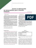 Utilidad de Internet en Información de Medicamentos Para Atención