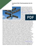 Agencia De Posicionamiento Web. Posicionamiento Seo En la capital de España