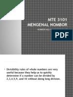 M6 4 Divisibilities Rules