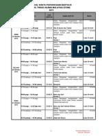 Jadual Waktu Peperiksaan STAM 2015 bukustam