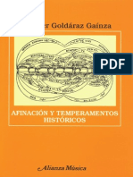 GAÍNZA Afinación y Temperamentos Históricos