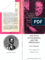 JEPPESEN the Style of Palestrina and the Dissonance