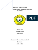 UJI ANGKA KAPANG/KHAMIR PADA BAHAN DASAR OBAT TRADISIONAL