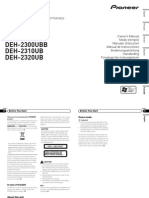 Deh-2300ub Manual en Fr It Es de Nl Rupdf