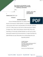 Word Music, LLC et al v. Priddis Music, Inc. et al - Document No. 13