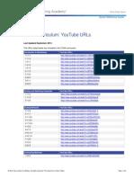 CCNA Curriculum List of YouTube URLs