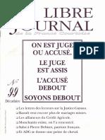 Libre Journal de la France Courtoise N°099