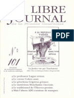 Libre Journal de la France Courtoise N°101