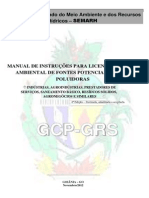 Manual de Instrucao Para Licenciamento Ambiental Gcp 2013
