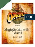1503_Debugging Simulation Models Advanced Network R&D