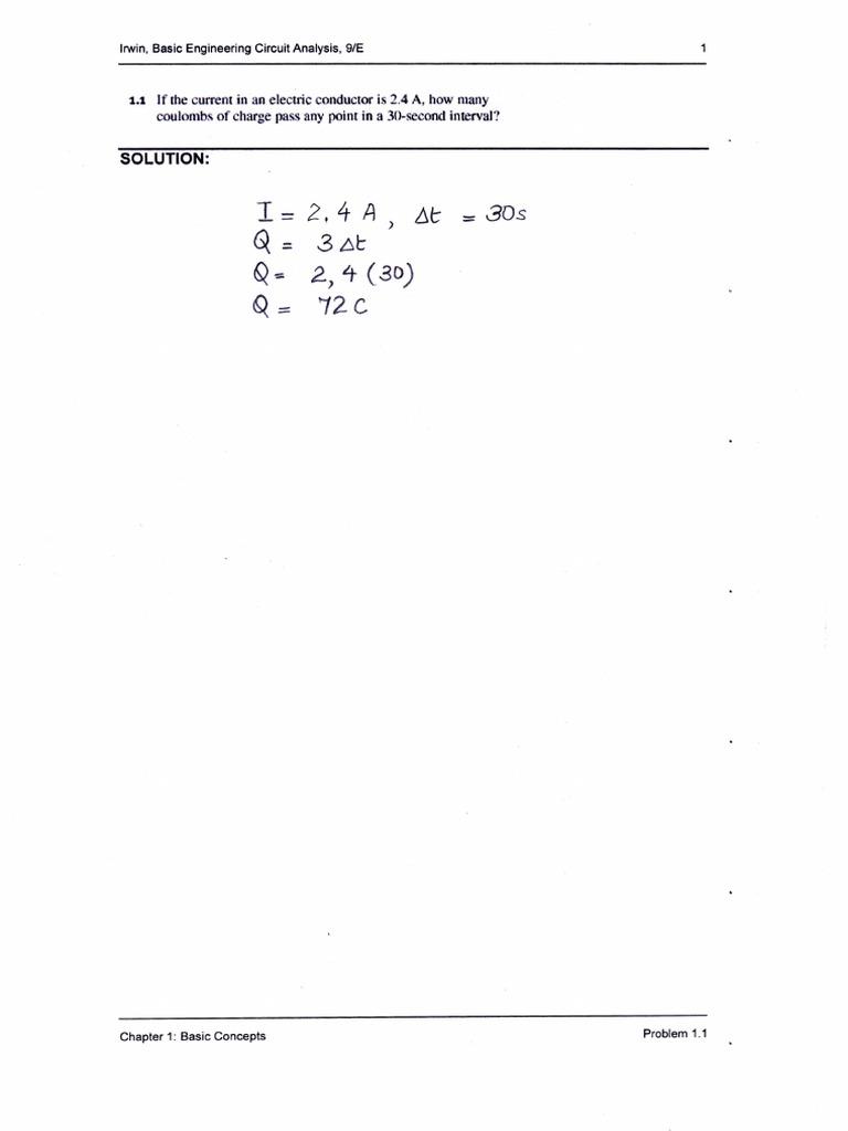 Irwin, Basic Engineering Circuit Analysis, 9E Solutions