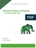 Hortonworks Business Value of Hadoop v1.0