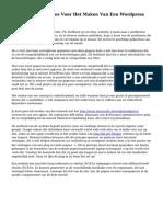 De 10 Basisprincipes Voor Het Maken Van Een Wordpress Web Pagina