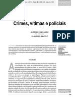 Crimes Vitimas Policiais - Paixao