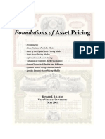 Fundation of Asset Pricing. Ronal Balver Content