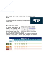 El precio de la vivienda en Dénia en el mes de Junio de 2015