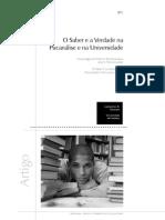DANZIATO, Leonardo. O saber e a verdade na psicanálise e na universidade.pdf