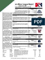 Minor League Report 15.07.21