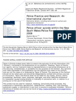 Police officer suicide within the New South Wales Police Force from 1999 to 2008
