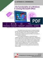 Microsoft Windows 8.1 notebook vs. Chromebooks for education