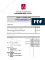 Professional Skills Syllabus 14-15