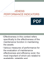 Effectiveness Performance Indicators