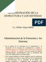Organización08 Administracion de La Estructura y Los Sistemas