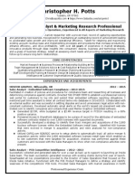 Market Research Channel Marketing Manager in Portland OR Resume Christopher Potts