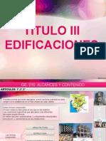 TITULO 3 EDIFICACIONES -  RNE