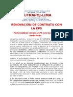 Renovacion de Contrato Con La Eps