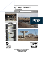 Drilled Shaft Axial Capacities Effects Due to Anomalies