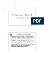 C Programming - Lecture I