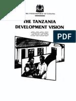 Tanzania Development Vision 2025