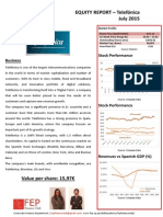 Equity Valuation Report – Telefonica