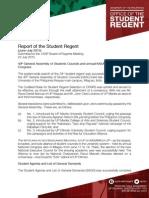 Report of the Student Regent (June-July 2015 )