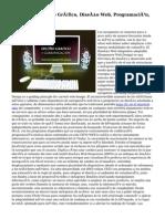 Cursos De Diseño Gráfico, Diseño Web, Programación, 3D Y Vídeo