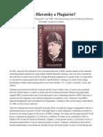 Was Blavatsky a Plagiarist?